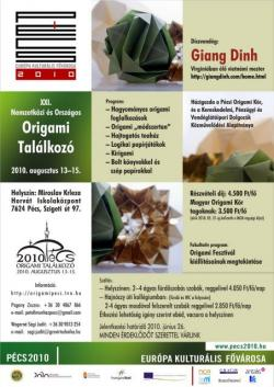 21. Nemzetközi és Országos Origami Találkozó - 2010 Pécs