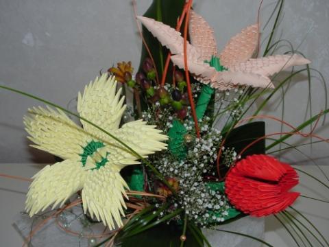 Virágcsokor 1000 papír technikával